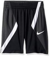 NIKE Boys' Dry Avalanche Basketball Shorts, Black/Grey/White