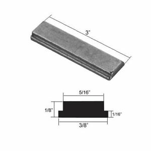 """Shower Door Strike Jamb Magnet for Swing Shower Doors - 3"""" long x 3/8 wide"""