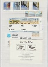 EUROPA CEPT 3 SCANS SOUND COLLECTION LOT MINT NH (UNMOUNTED) SHEETS CARDS