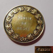 """Médaille ancienne XIXeme - """" Comice agricole de Blois """" - argent vermeil"""