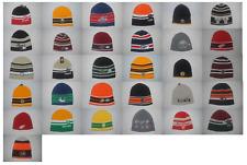 New NHL Teams Men's Knit Hockey Winter Stripe Caps Uncuffed Beanie Various Hats