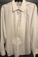 Vintage Men's Lion of Troy Tuxedo Shirt Union Made L White - Fantastic condition