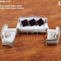 DIY 1/25 Dollhouse Couch Sofa Chair Cushion Set Miniature Furniture Model Toys