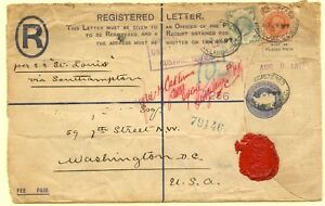 GREAT BRITAIN--Registered Cover to the U.S.in 1897
