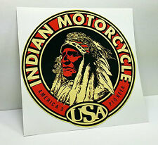 Indian Motorcycle, America's Pioneer Vintage Style DECAL, Vinyl STICKER