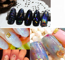 Transparent Nail Foils Starry Sky Glitter Nail Art Transfer Sticker Paper 6pcs