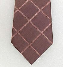 Corbata De Cuadros Rosas De Seda Pura Kingston Menswear