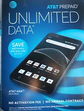 AT&T AXIA 4G LTE 16GB Smartphone Dark Blue AT&T Prepaid Factory Sealed New