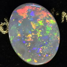 FIERY REDS SOLID NATURAL AUSTRALIAN  LIGHTNING RIDGE 2.75 carat BLACK OPAL 14065