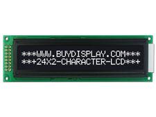 3.3V schwarz 24x2 Character LCD Modul Display mit Anleitung, HD44780 Controller, Blende