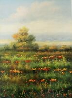 "Field Hand Painted High Quality Oil Painting on Canvas 12""x 16"""