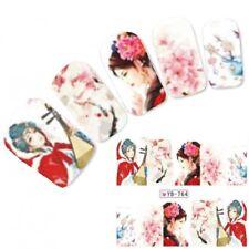 Tattoo Nail Art Aufkleber Geisha Japan Manga Water Decall Neu!