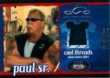 American Choppers rare Paul Teutul Sr. Black Shirt Pieceworks Card CT1