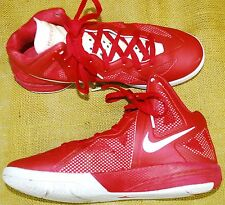 NIKE ZOOM HYPERFUSE Basketball Shoes Sneakers Men's 9 RED & WHITE 454146-600