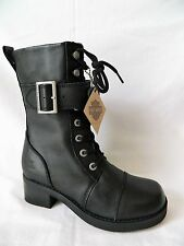 NEW  9.5 M Harley-Davidson Women's Jammie Black Leather Motorcycle Boots euro 41