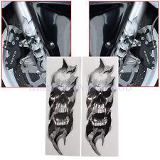 Front Fork Skull Decals For Harley Davidson Sportster Softail Dyna Electra Glide