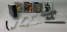 12pc. Nintendo Wii Black & White Console Action Adventure Bundle SN#LU151454691