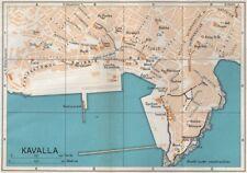 KAVALA vintage town city map plan. Macedonia, Greece 1967 old vintage