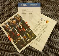 Crystal Palace v Watford Matchday Programme with official teamsheet 7/3/20!!