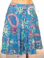 New Old  Navy Turquoise floral boho tiered elastic waist skirt girls XL X-large