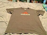 ADIDAS Men's Gray & Orange Short Sleeve Shirt. Size XL  USA FREE SHIPPING