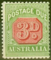 Australia 1909 3d Rosine & Yellow-Green SGD66 Fine Mtd Mint