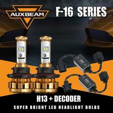 Auxbeam Hi-Lo 50W 5000LM H13 9008 LED Headlight Bulbs Kit 6000K+Canbus Decoder