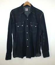 Levis Vintage Clothing LVC Short Horn Sawtooth Western Denim Shirt Big E USA Lrg