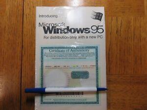 Microsoft Windows 95 (Still sealed)