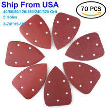 70PCS Hook and Loop Mouse Sander Pad Sandpaper Sanding Pads Paper Triangle Sheet