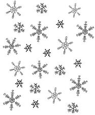 Snowflake Background Unmounted Rubber Stamp SA7143