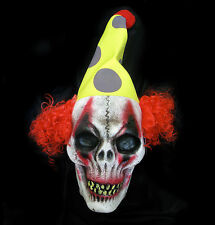 Lifesize Severed Zombie Clown Head Haunted Circus Hanging Halloween Party Prop