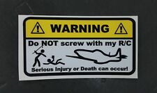 RC PLANE Warning Decals stickers nitro electric gas cox os blade remote control