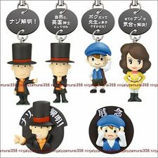 Professor Layton and the Miracle Mask strap figure & magnet set of 6 Authentic