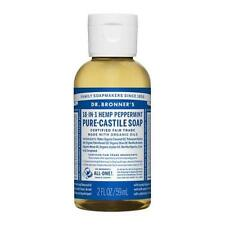 New Authentic Dr. Bronner's Organic Castile Liquid Soap Peppermint 2 Oz