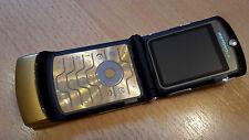 Motorola RAZR v3 Gold/foliert/plegable móvil/simlockfrei * como nuevo *