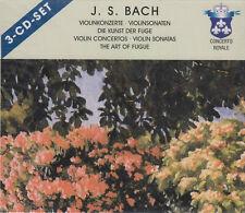 JOHANN SEBASTIAN BACH Violinkonzerte - Violinsonaten - 3-CD-Set 2001 NEUWARE OVP