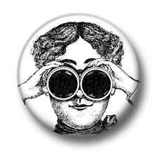 I Spy 1 Inch / 25mm Pin Button Badge Eyes Binoculars Peeping Tom Nosey Parker