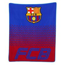 FC Barcelona Fade Fleece Blanket Childrens Blue Red 125cm X 150cm Official