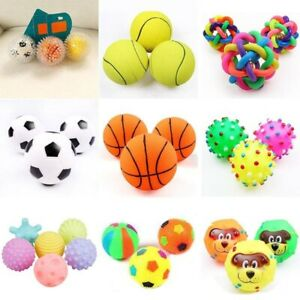 6cm Squeaky Pet Dog Ball Toys for Small Dogs Rubber Puppy Toy