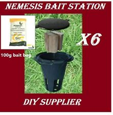 6 NEMESIS termite monitor bait station and 100g bait bag - inspection