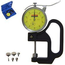 "Thickness Gauge Quick Micrometer Caliper Dial Indicator w/6 Anvils 0-1""/0.001"""