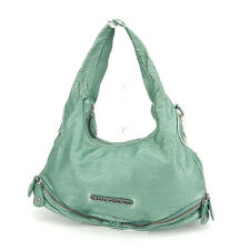 Diesel Shoulder bag Logo Green Silver Woman Authentic Used Y5807