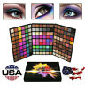 Jumbo 162 Colors Cosmetic Powder Eye Shadow Palette Makeup Sets Matt Shimmer US