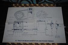 Star Wars IV Vintage Tractor Beam Generator Power Blueprint Design Vintage 1977
