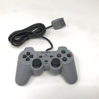 Official Sony PlayStation 1 PS1 Dual Shock Analog Controller Gray SCPH-1200 OEM