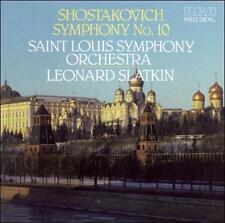 MUSIC CD Shostakovich Symphony 10 St Louis SLATKIN RCA Red Seal