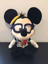 Disney Park NERD Mickey Mouse Plush Authentic Original Glasses School Toy