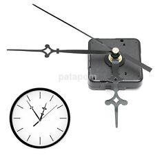 Hanging Wall Clock Quartz Movement Mechanism Parts Long Spindle Black Hands US