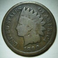1890 Indian Head Cent in Average Circulated Condition    DUTCH AUCTION